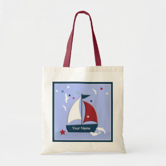 Sailboat Design Cute Nautical Go Bag