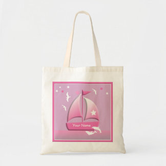 Sailboat Design Cute Pink Go Bag