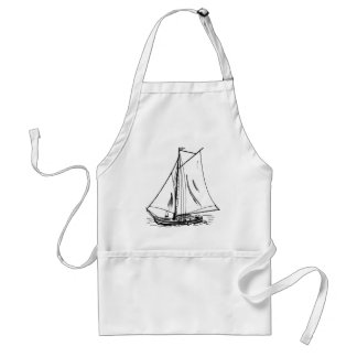 Sailboat Drawing Vintage Standard Apron