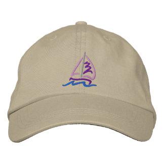 Sailboat Embroidered Baseball Caps