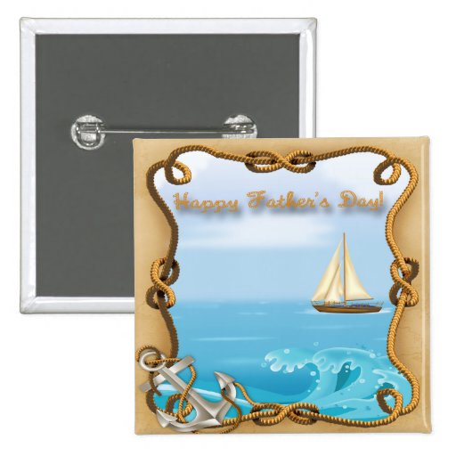 Sailboat Father's Day Button