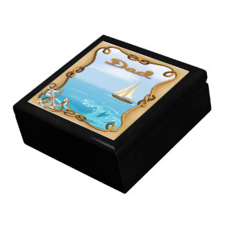 Sailboat Father's Day Gift Box/Trinket Box