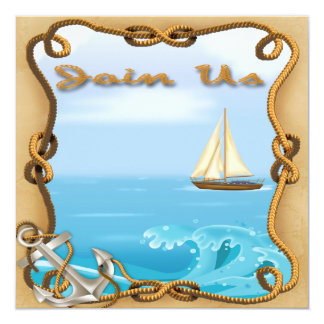 Sailboat Father's Day Party Invitations