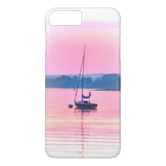 Sailboat floating in early morning light. iPhone 8 plus/7 plus case