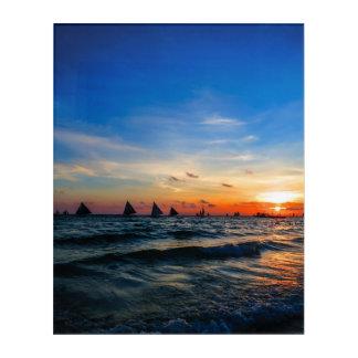 Sailboat Flotilla in Silhouette 1 Acrylic Print