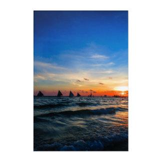 Sailboat Flotilla in Silhouette 2 Acrylic Print