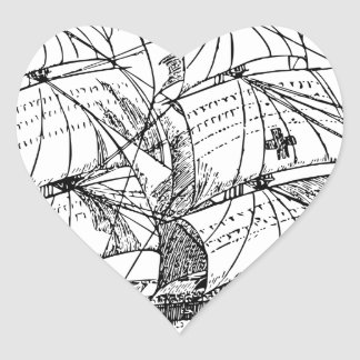 Sailboat Heart Sticker
