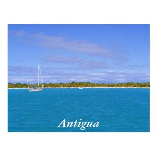 sailboat in Antigua Postcard