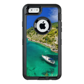 Sailboat in Emerald Green Ocean OtterBox Defender OtterBox Defender iPhone Case