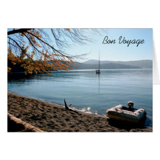 Sailboat in Islands Bon Voyage Greeting Card