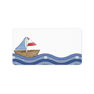 Sailboat Label Address Label