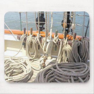 Sailboat Lines Mouse Pad
