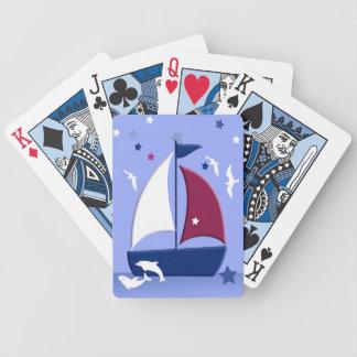 Sailboat Little Sailor Nautical Playing Cards