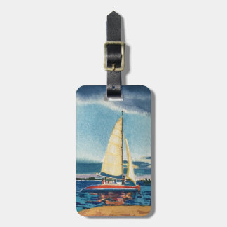 Sailboat luggage tag or key chain