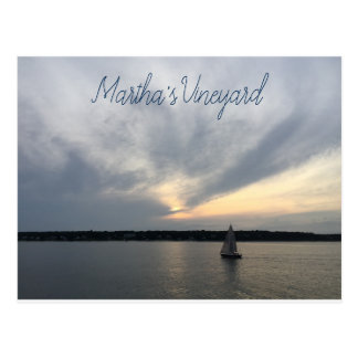 Sailboat Martha's Vineyard Postcard