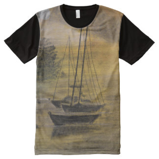 Sailboat Moored on a Tee-Shirt All-Over Print T-Shirt