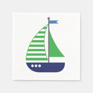Sailboat Napkins Disposable Napkin