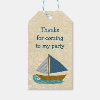 Sailboat Nautical Art Party Favor Gift Tags