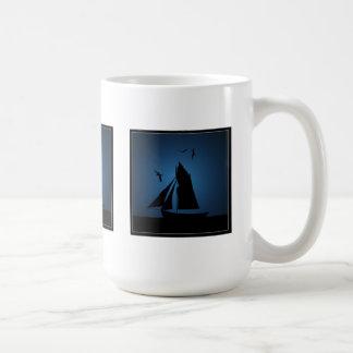 Sailboat Ocean Blue Mugs