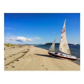 Sailboat on a Sandy Beach Postcard