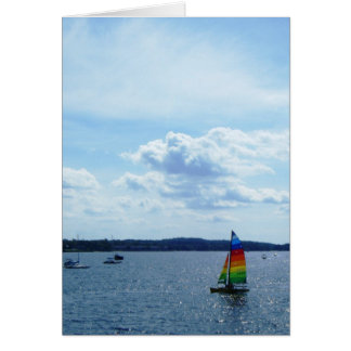 """Sailboat on Lake Champlain"" Card"