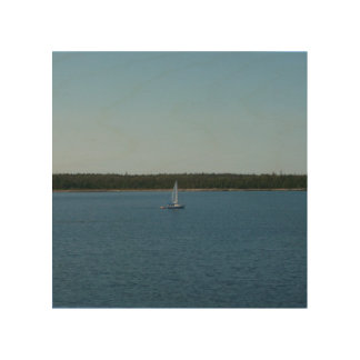 Sailboat on Lake Ontario Wood Canvases