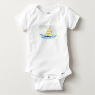 Sailboat Outfit Baby Onesie