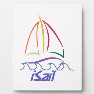 Sailboat Outline Photo Plaques
