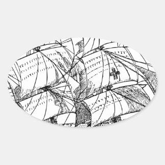 Sailboat Oval Sticker