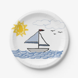 SAILBoat Paper Plate