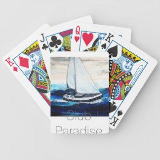 """Sailboat Paradise Club "" Poker Deck"