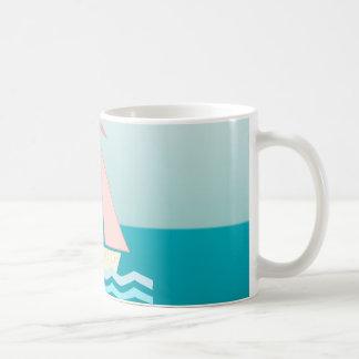 Sailboat (pink) coffee mugs