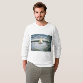 Sailboat & Raging Waterfall Sweatshirt
