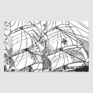 Sailboat Rectangular Sticker