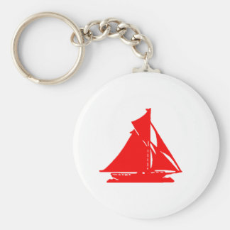 Sailboat Red lg-transp Vero Beach The MUSEUM Zazzl Keychains