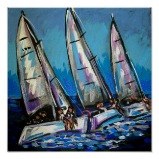 sailboat regatta poster