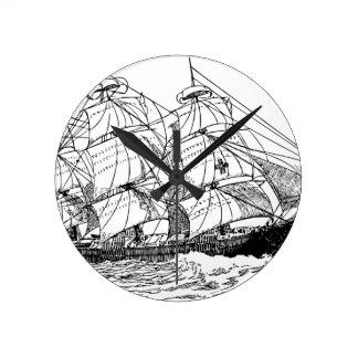 Sailboat Round Clock