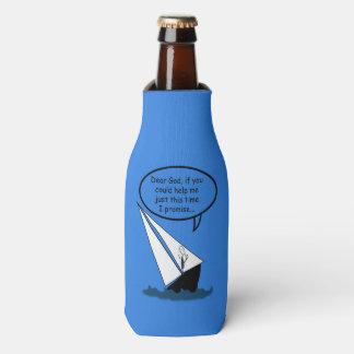 Sailboat Sailing Dear God Funny Bottle Cooler