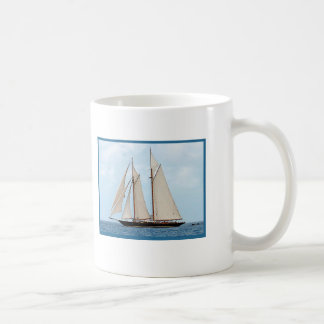 Sailboat Sailing in the BVI I Would Rather Be Sail Coffee Mug