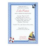 "Sailboat Sailing Nautical 5x7 Bridal Shower Invite 5"" X 7"" Invitation Card"