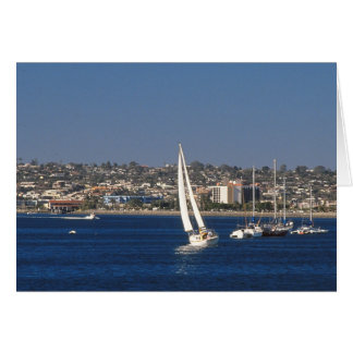 Sailboat, San Diego, California Greeting Card