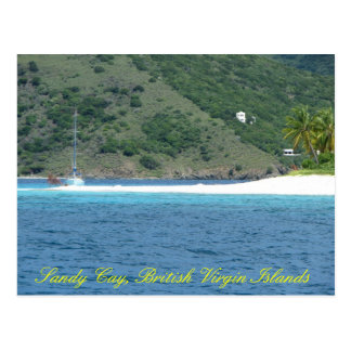 Sailboat @ Sandy Cay Postcard
