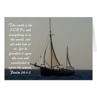 Sailboat Scripture Notecard