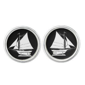 sailboat silhouette cuff links
