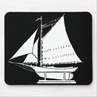 sailboat silhouette mouse pad