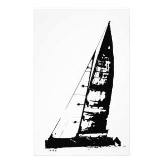 Sailboat Silhouette Stationery