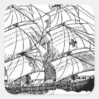 Sailboat Square Sticker