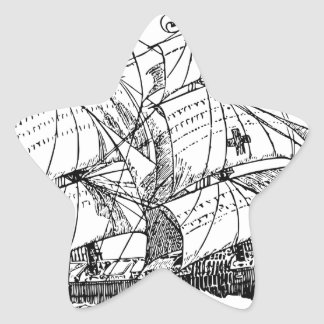 Sailboat Star Sticker