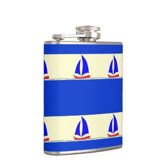 Sailboat Stripe Flask