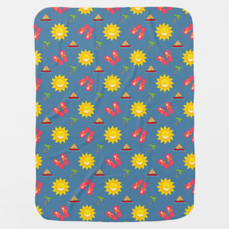Sailboat Sun Sandals Vacation Baby Blanket